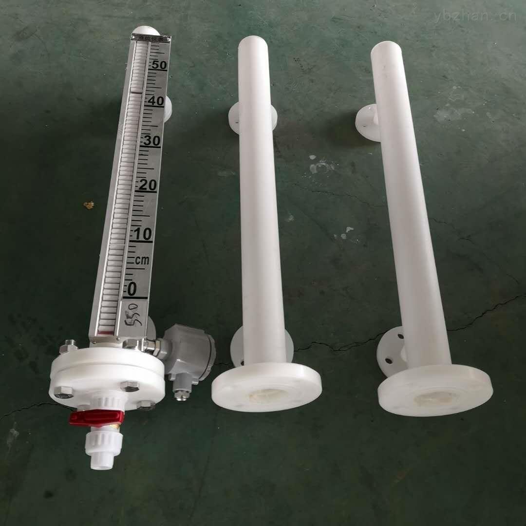 侧装加固法兰DN50硫酸罐磁性液位计LED显示