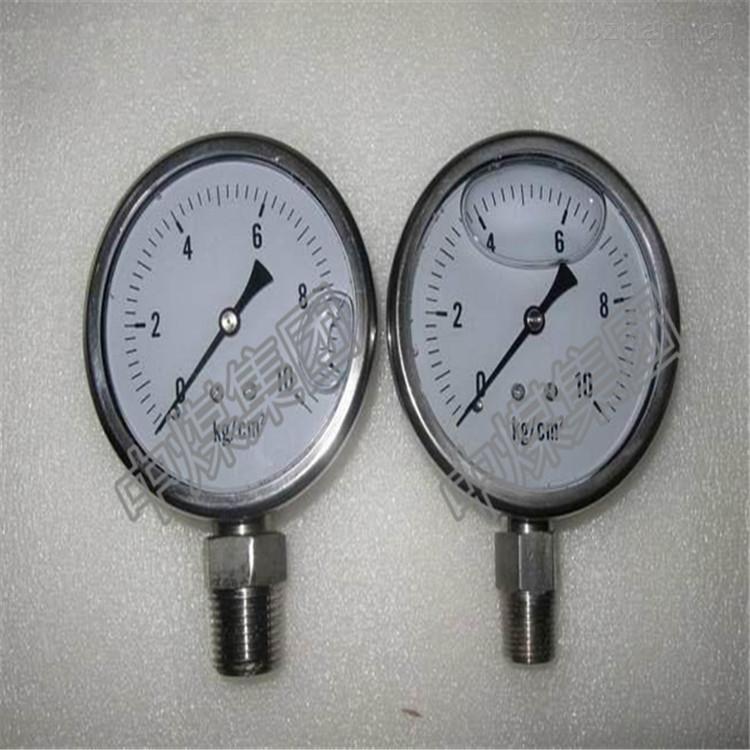 山东济宁生产厂家直销耐腐蚀不锈钢压力表