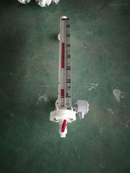 防腐氯苯顶装磁翻板液位计测量5000mm