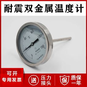 WSSN-481耐震双金属温度计厂家价格 径向轴向万向
