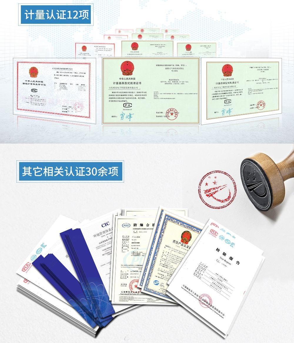 液化气泄漏报警器资质证书