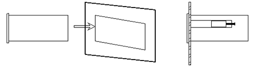 嵌入式直流功率表安装方式